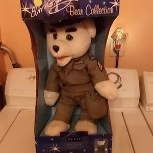 Elvis army bear 2nd in collection of 4 artist of c